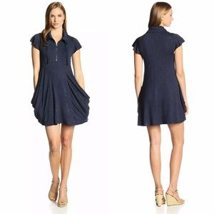 NWT Kensie drapey pocket French Terry dress Small